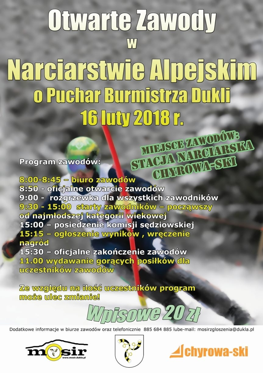 Otwarte Zawody w Narciarstwie Alpejskim o Puchar Burmistrza Dukli