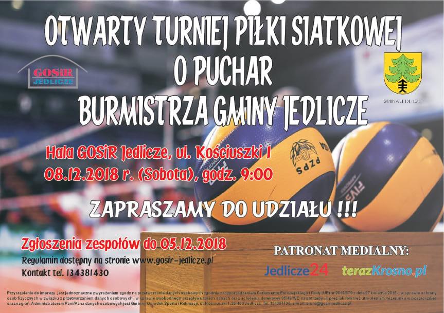 Otwarty Turniej Piłki Siatkowej o Puchar Burmistrza Gminy Jedlicze