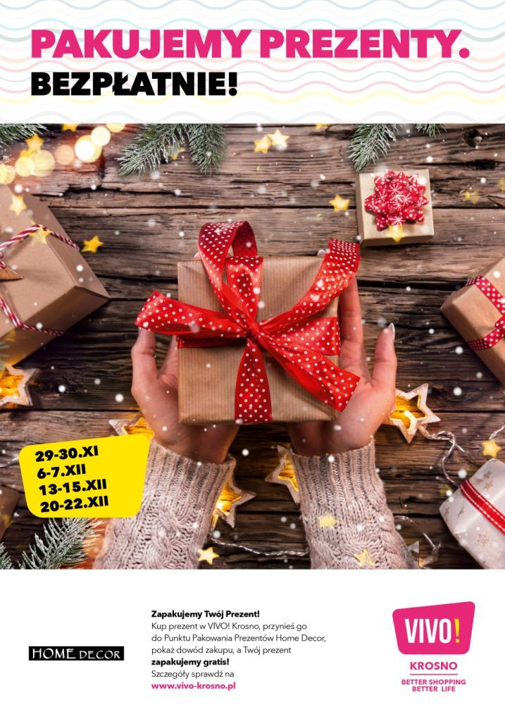 Pakowanie prezentów w VIVO! Krosno