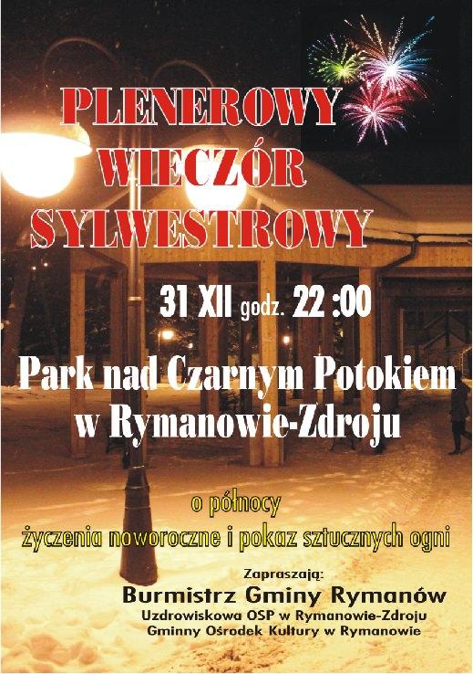 Plenerowy wieczór sylwestrowy w Rymanowie-Zdroju