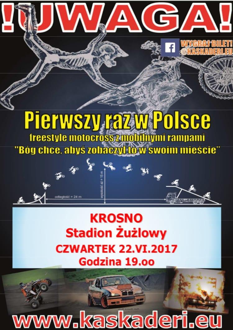 Pokaz kaskaderski w Krośnie