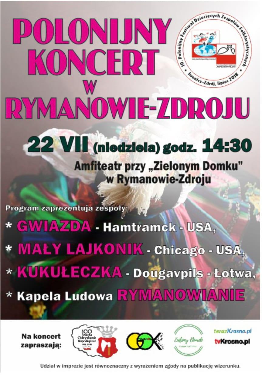 Polonijny Koncert w Rymanowie Zdroju