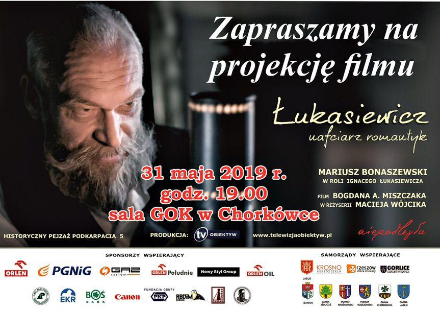 """Projekcja filmu """"Łukasiewicz - nafciarz romantyk"""" w GOK Chorkówka"""