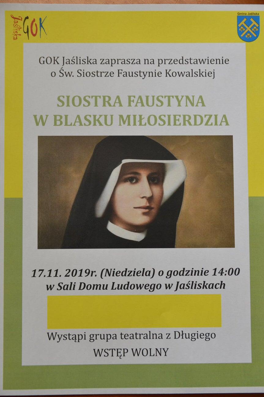 """Przedstawienie """"Siostra Faustyna w blasku miłosierdzia"""""""