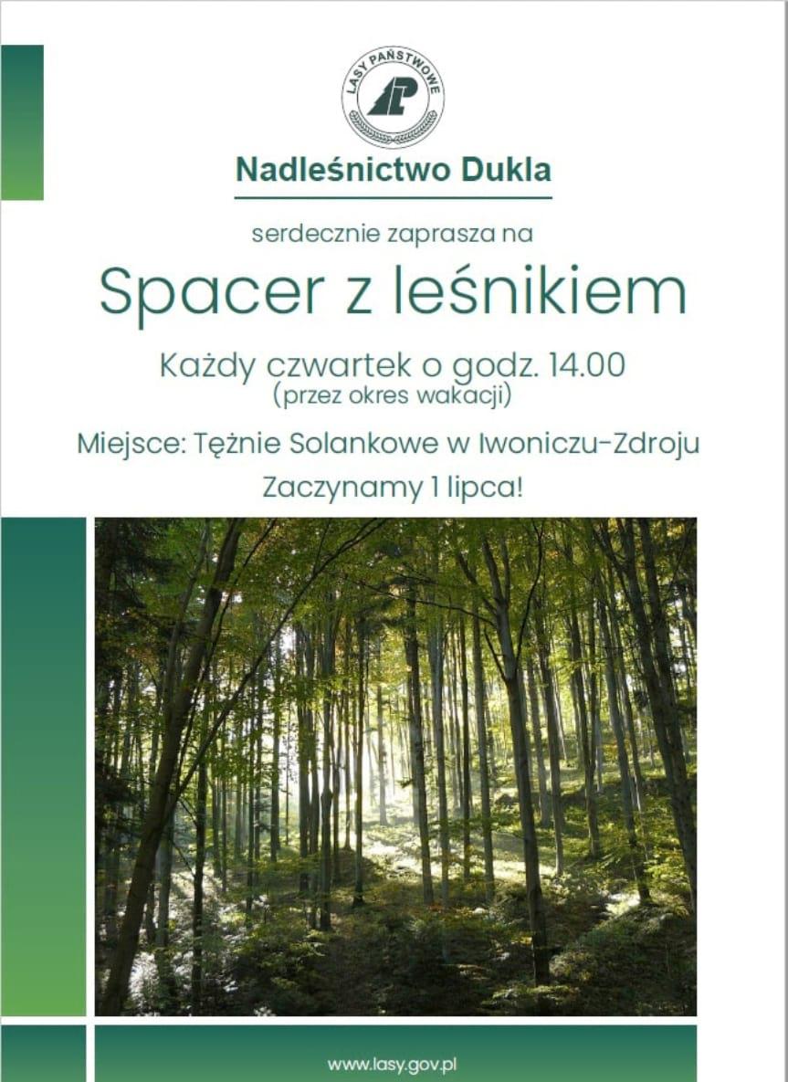 Spacer z leśnikiem w Iwoniczu-Zdroju
