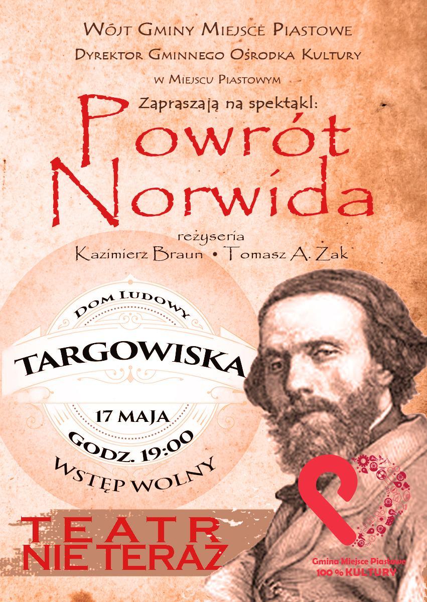 """Spektakl """"Powrót Norwida"""""""