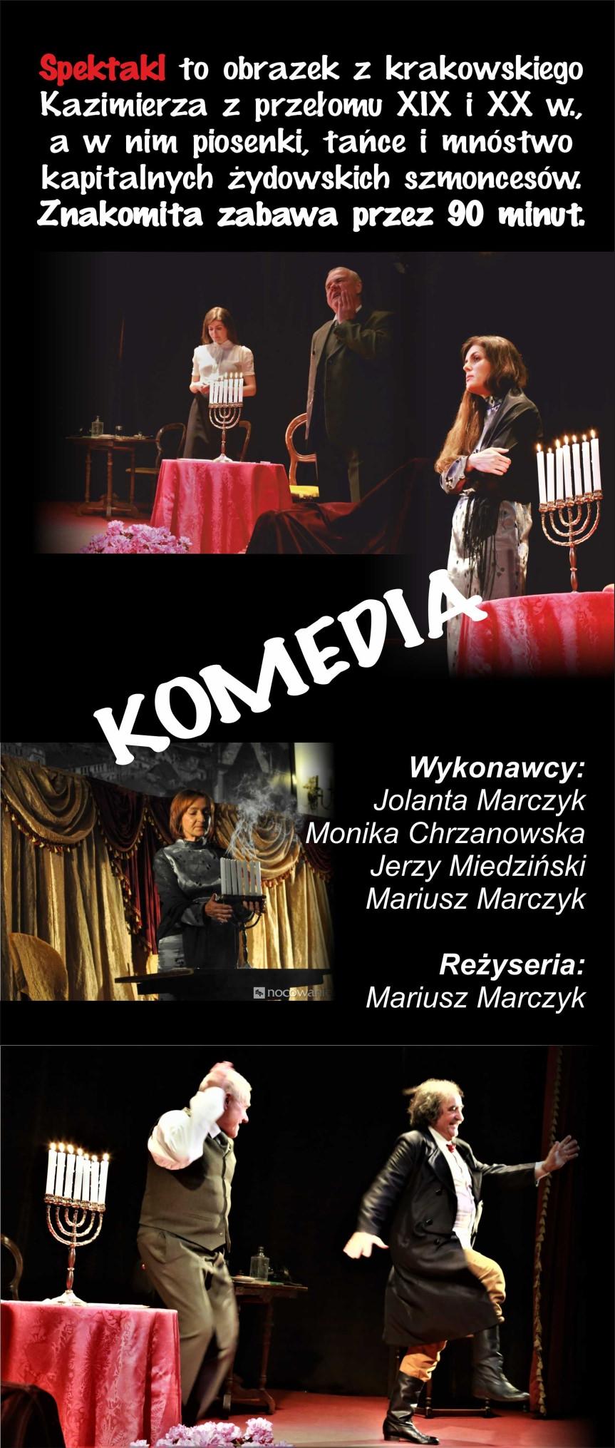 """Spektakl teatralny """"Rachel czy Pepka,czyli gaszefty,smoncesy i kłopoty Singera"""""""