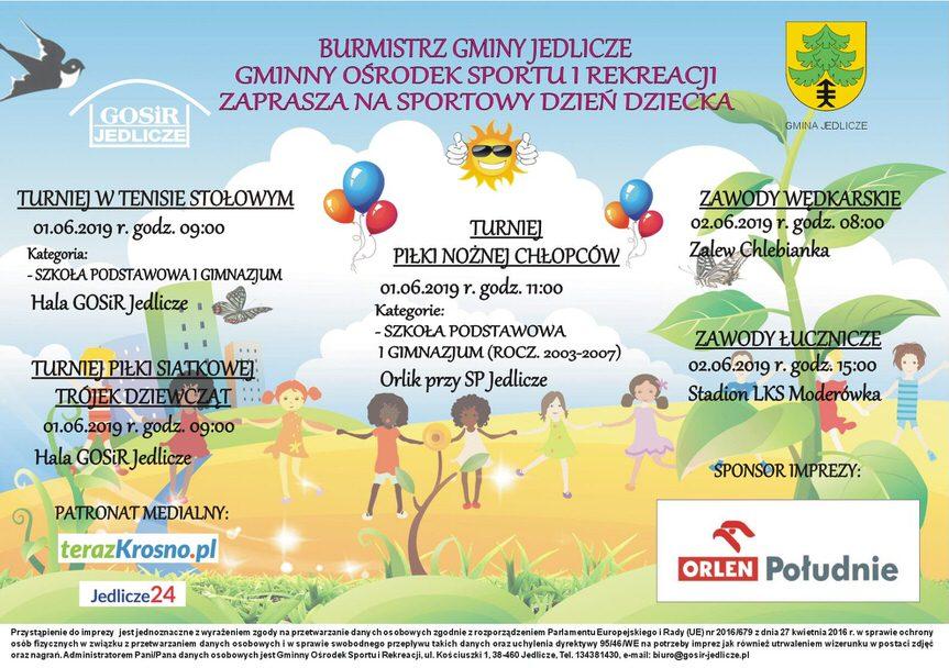 Sportowy Dzień Dziecka w gminie Jedlicze