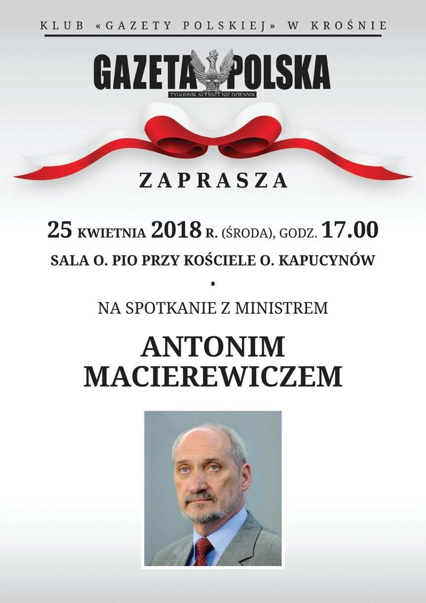 Spotkanie z Antonim Macierewiczem w Krośnie