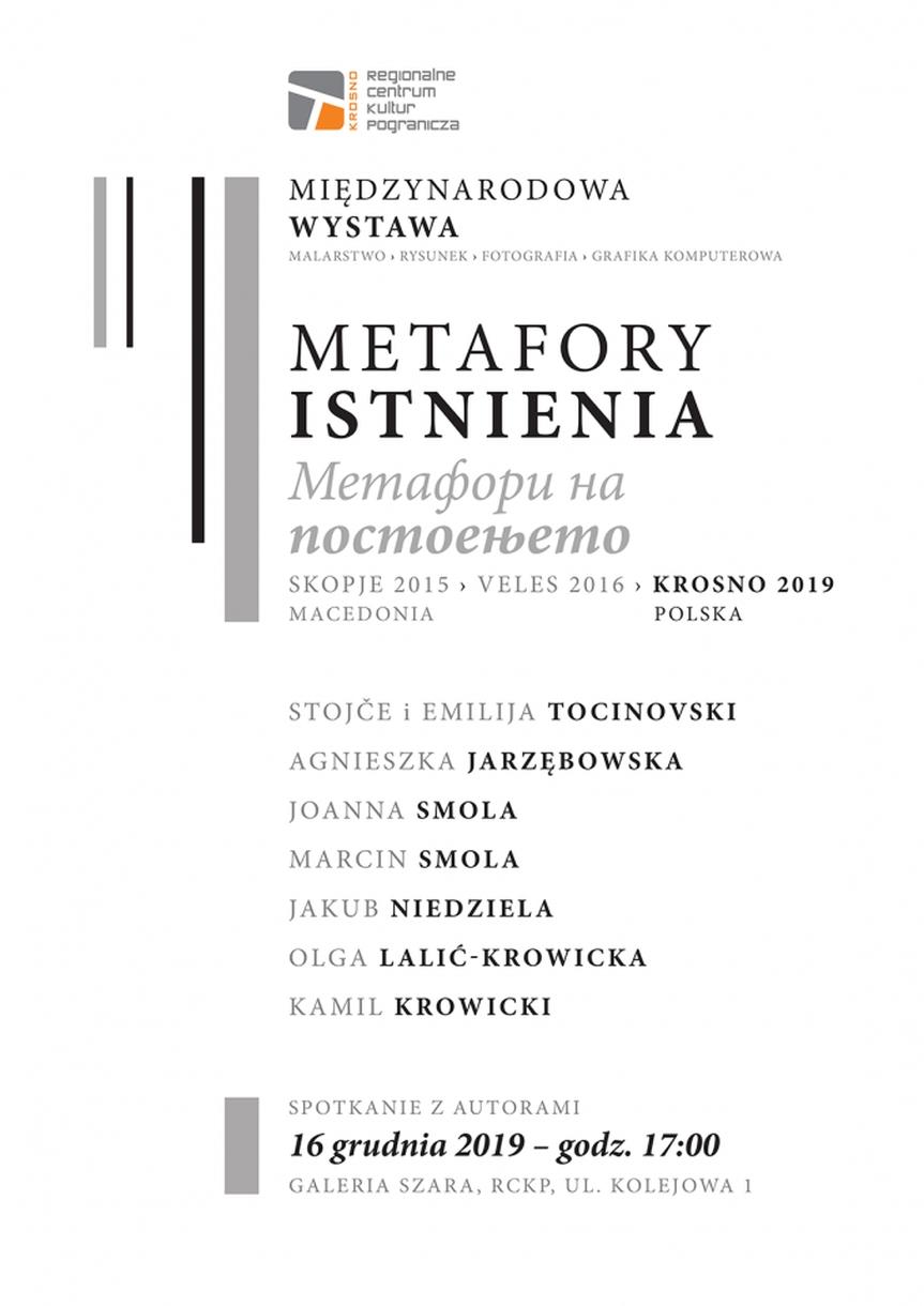 """Spotkanie z autorami wystawy """"Metafory istnienia"""""""