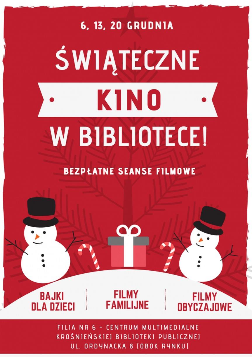 Świąteczne kino w Bibliotece - bezpłatne seanse filmowe