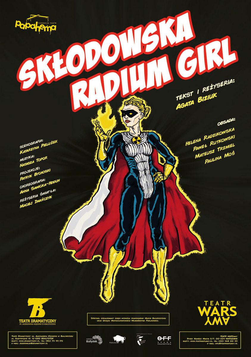 """Teatr Papahema, spektakl """"Skłodowska. Radium Girl"""" i warsztaty"""