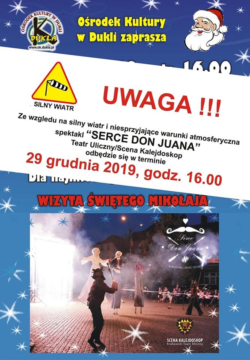 """Teatr uliczny w Dukli - """"Serce Don Juana"""""""