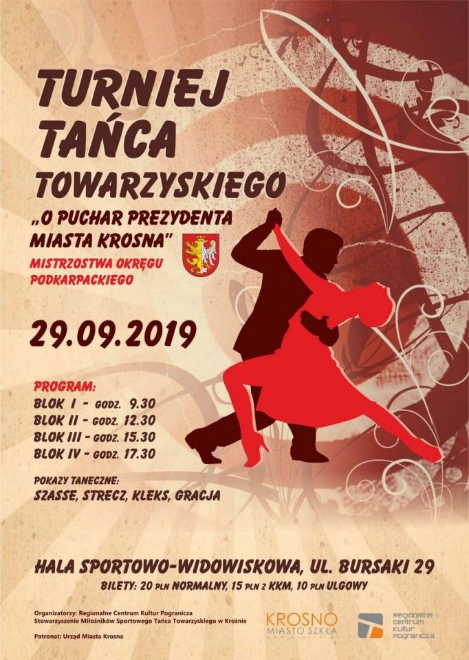 """Turniej Tańca Towarzyskiego """"o Puchar Prezydenta Miasta Krosna"""""""