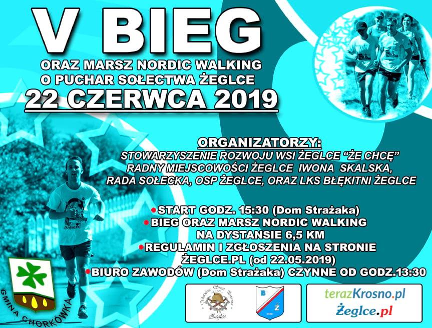 V Bieg oraz Marsz Nordic Walking o Puchar Sołectwa Żeglce