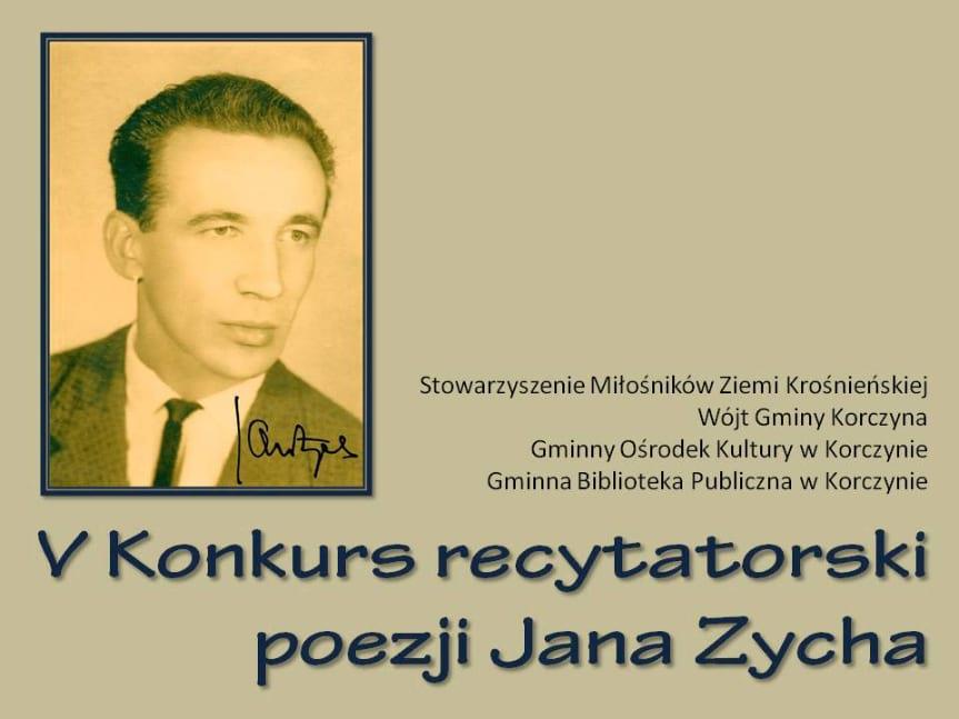 V konkurs recytatorski poezji Jana Zycha