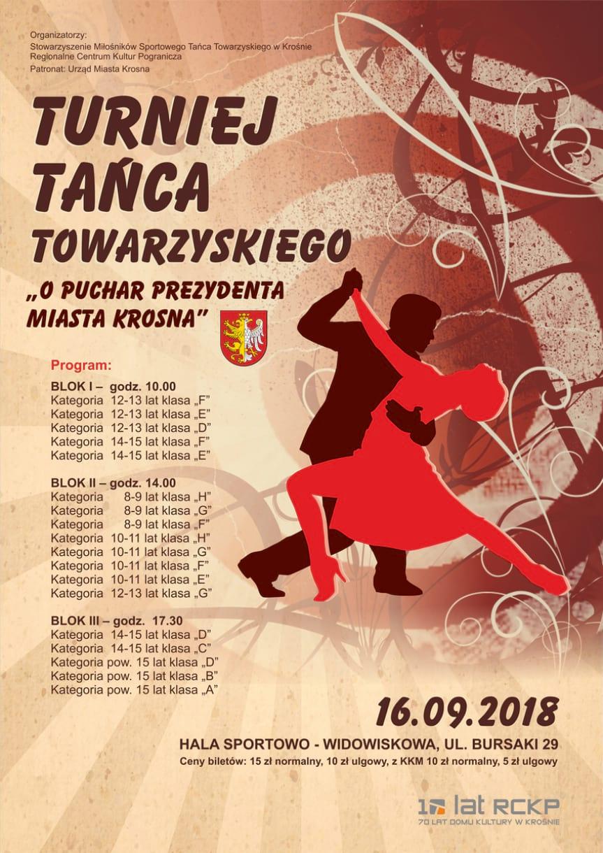 """V Turniej Tańca Towarzyskiego """"O Puchar Prezydenta Miasta Krosna"""""""