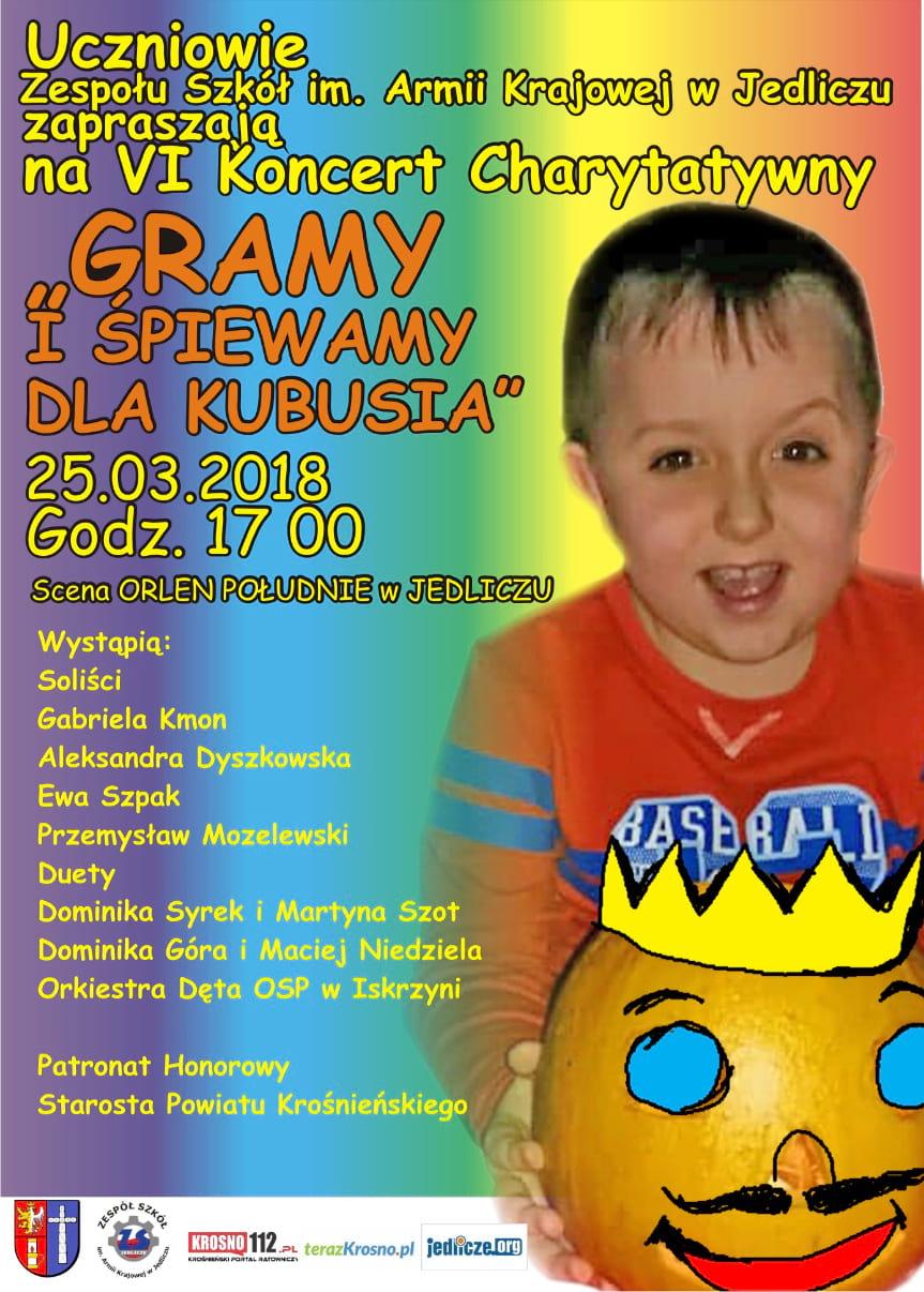 """VI koncert charytatywny """"Gramy i śpiewamy dla Kubusia"""""""