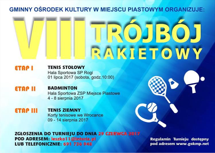 VIII Trójbój Rakietowy - Tenis Ziemny