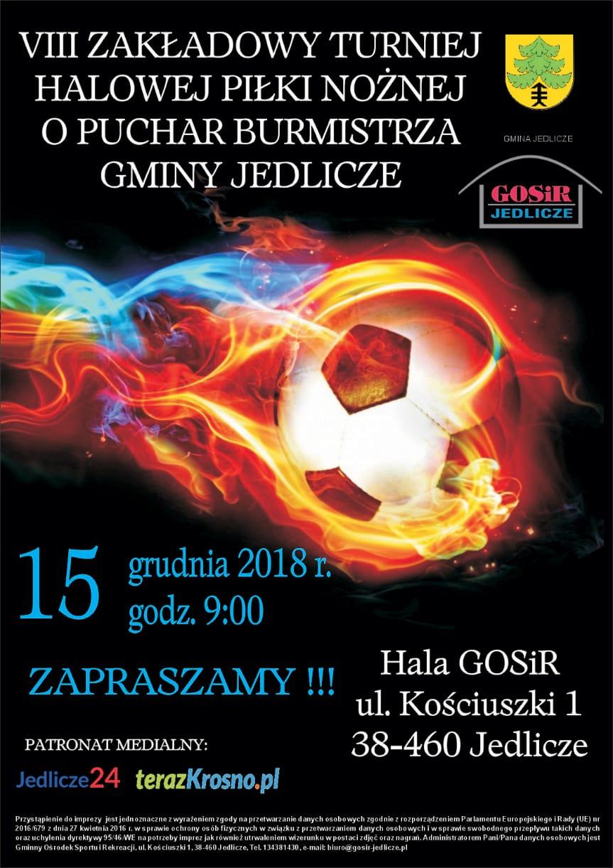 VIII Zakładowy Turniej Halowej Piłki Nożnej o Puchar Burmistrza Gminy Jedlicze