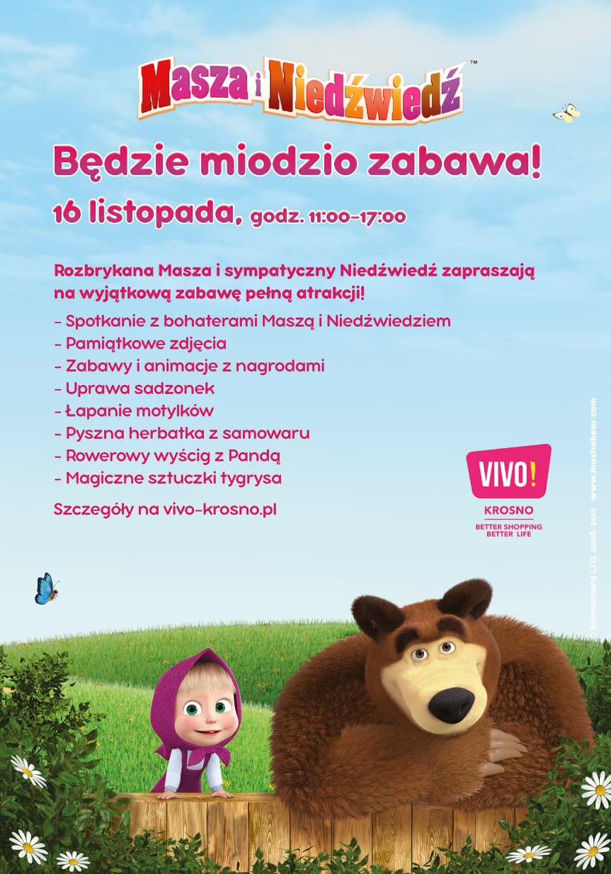 VIVO! Krosno odwiedzą Masza i Niedźwiedź