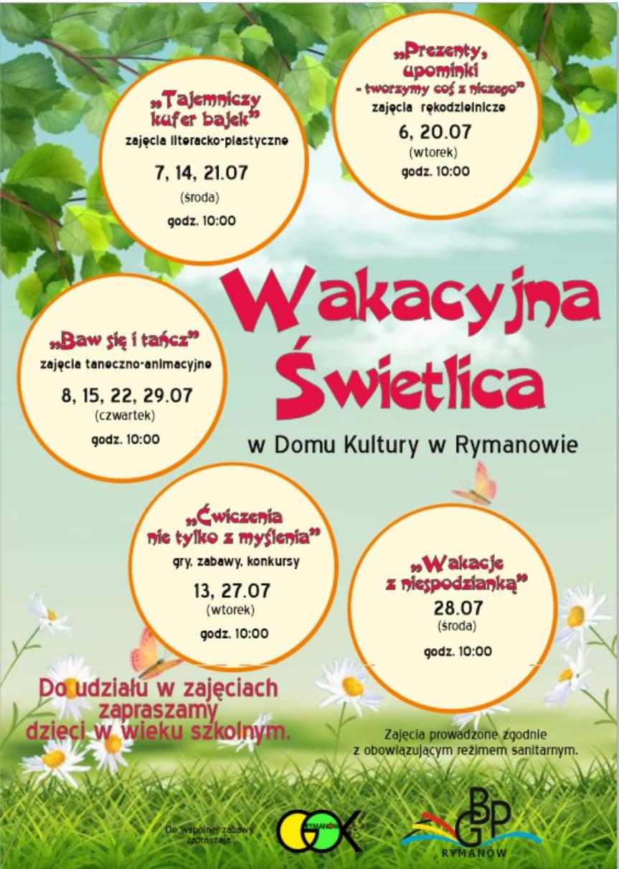 """Wakacje dla dzieci w Rymanowie - """"Wakacje z niespodzianką"""""""