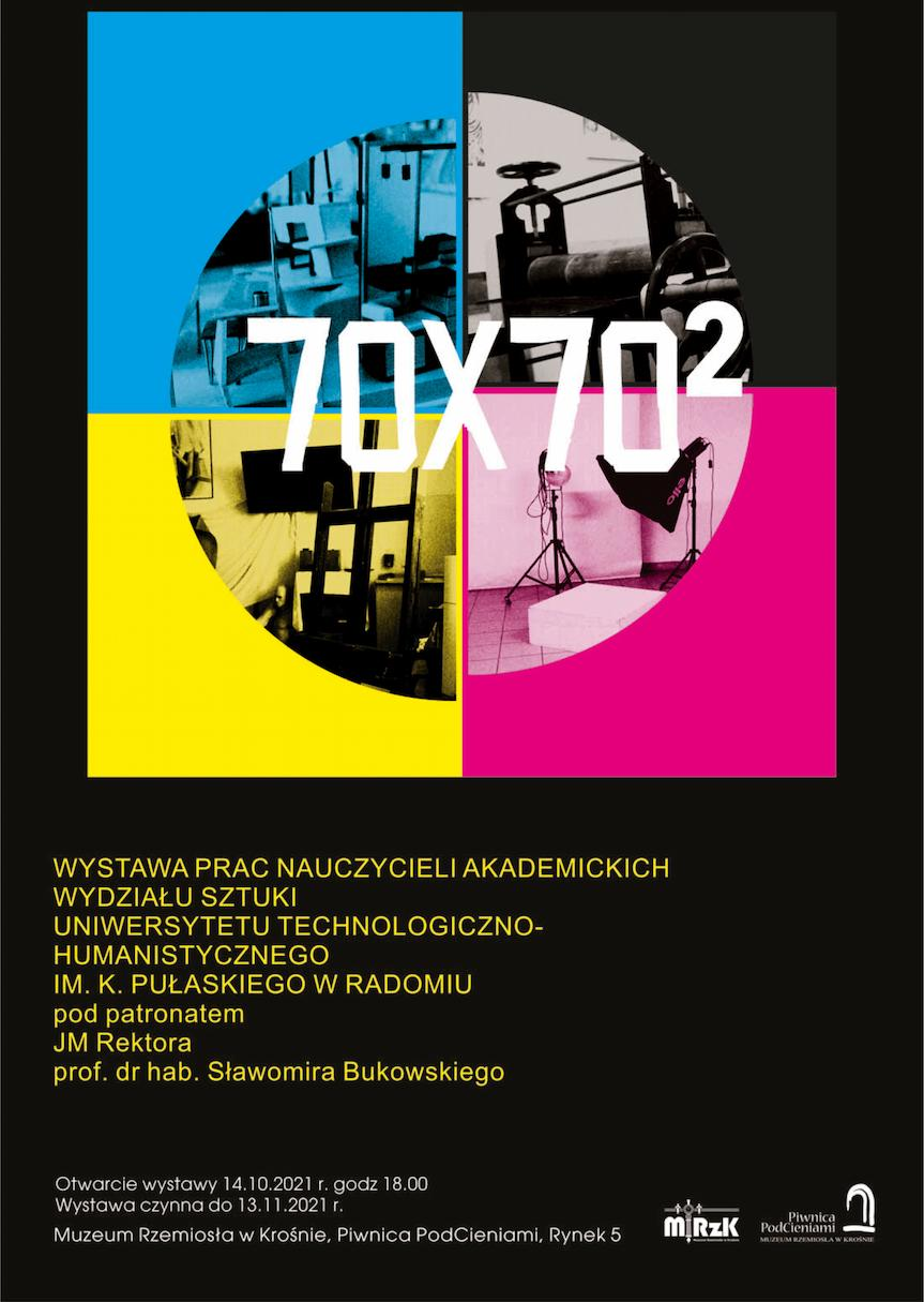 """Wernisaż wystawy """"70×70²""""  w krośnieńskiej Piwnicy PodCieniami"""