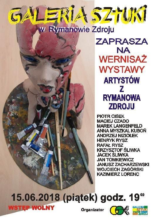 Wernisaż wystawy artystów z Rymanowa-Zdroju