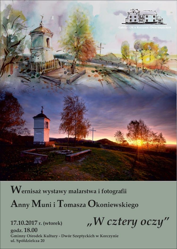 Wernisaż wystawy malarstwa i fotografii Anny Muni i Tomasz Okoniewskiego