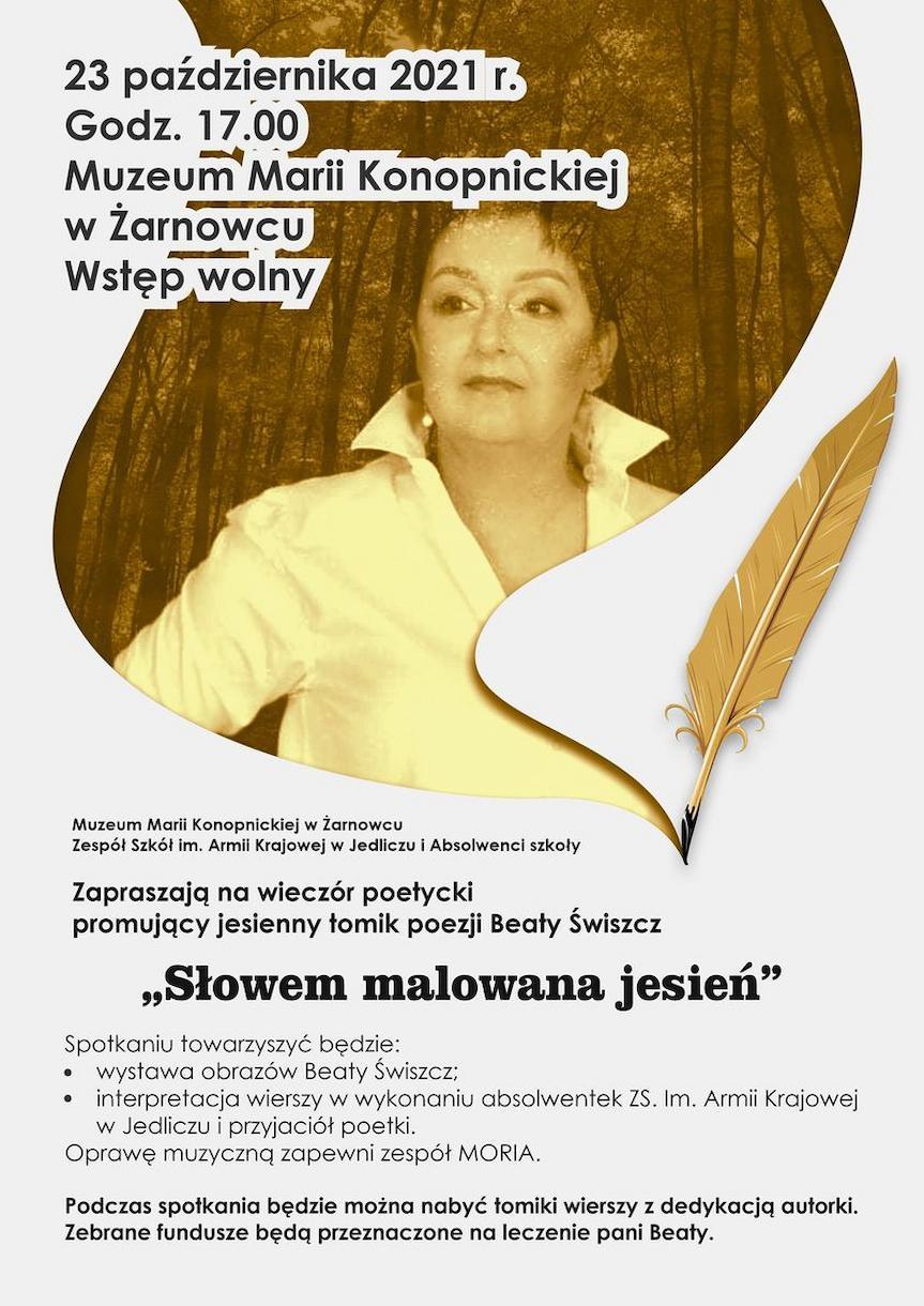 Wieczór poetycki promujący jesienny tomik poezji Beaty Świszcz
