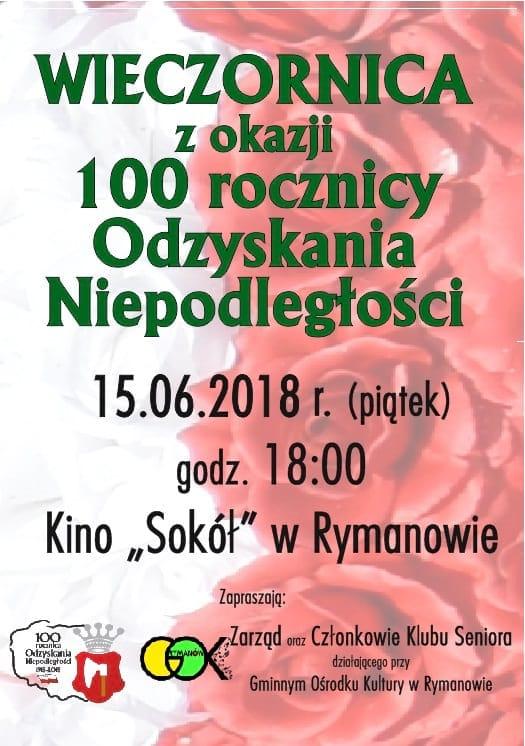Wieczornica z okazji 100 rocznicy Odzyskania Niepodległości