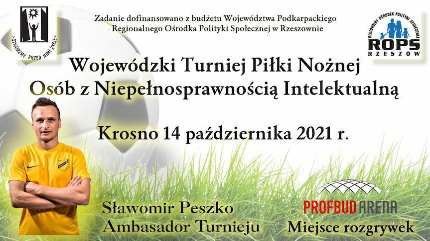 Wojewódzki Turniej Piłki Nożnej Osób z Niepełnosprawnością Intelektualną w Krośnie