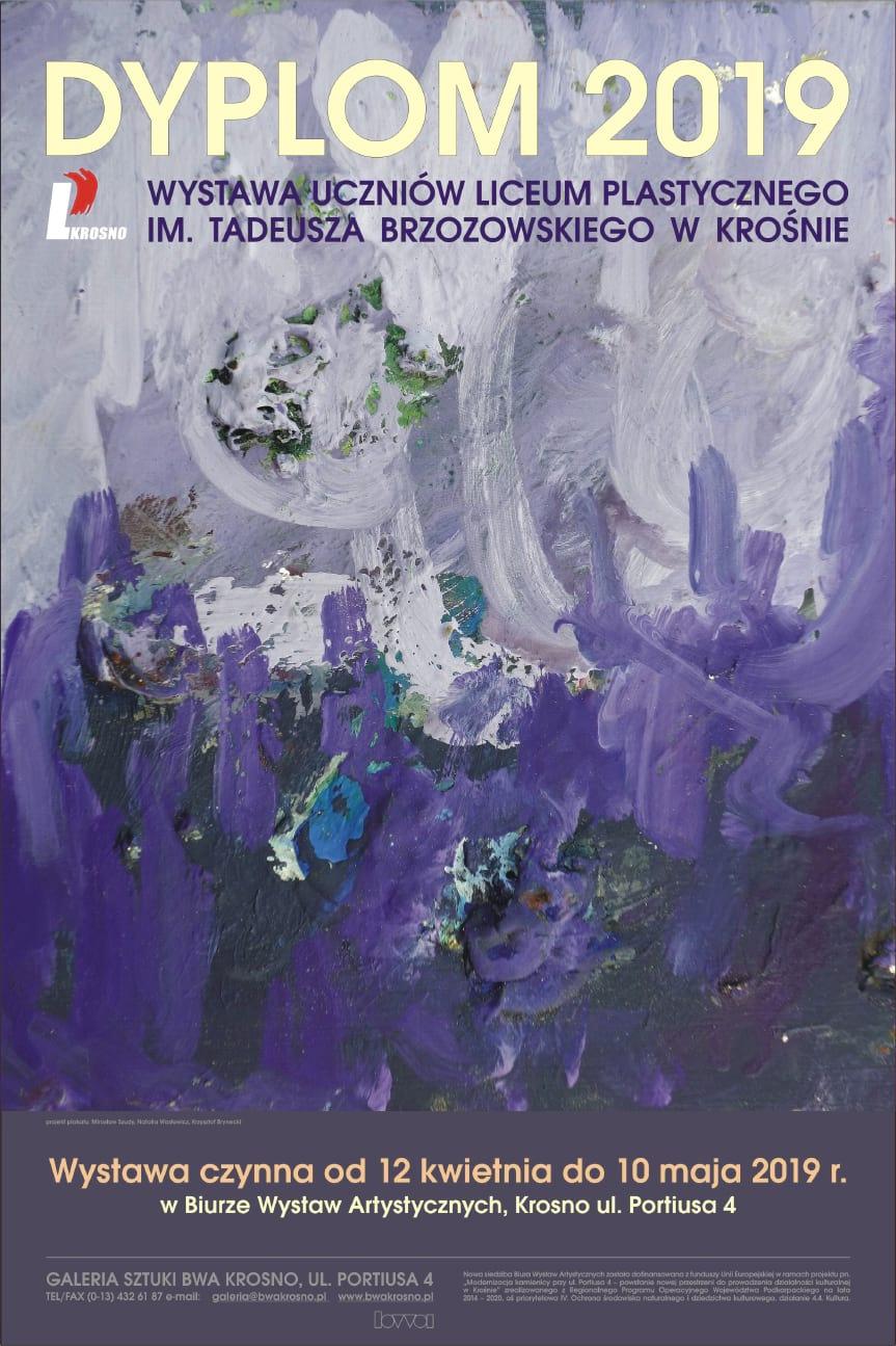 Wystawa absolwentów Liceum Plastycznego w Krośnie