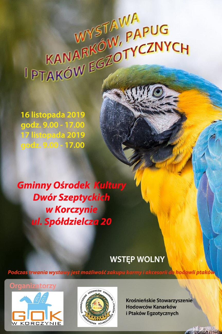 Wystawa kanarków, papug i ptaków egzotycznych