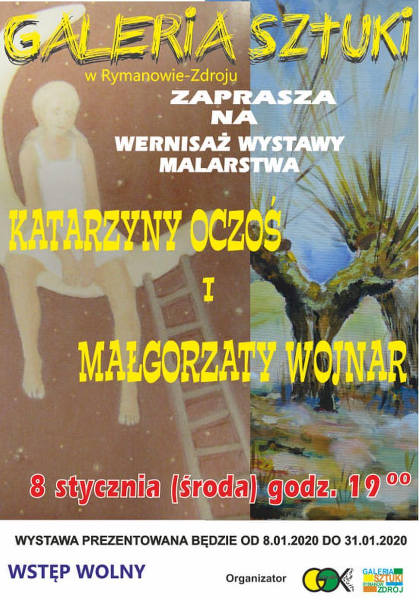 Wystawa malarstwa Katarzyny Oczoś i Małgorzaty Wojnar