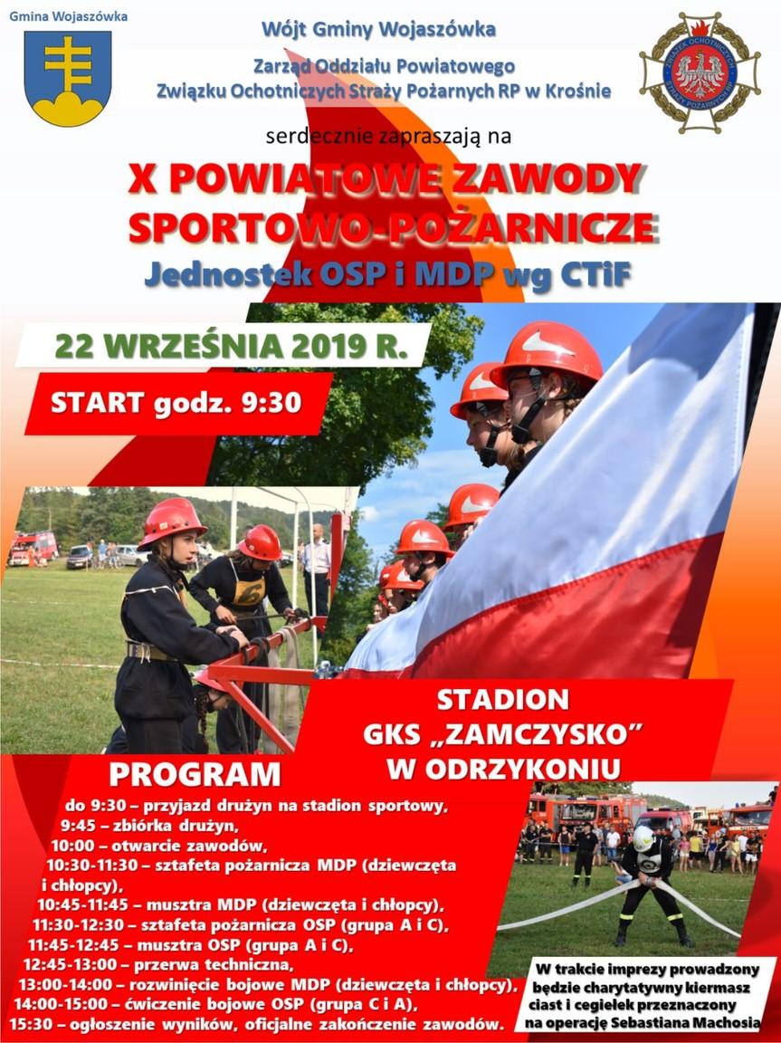 X Powiatowe Zawody Sportowo - Pożarnicze w Odrzykoniu