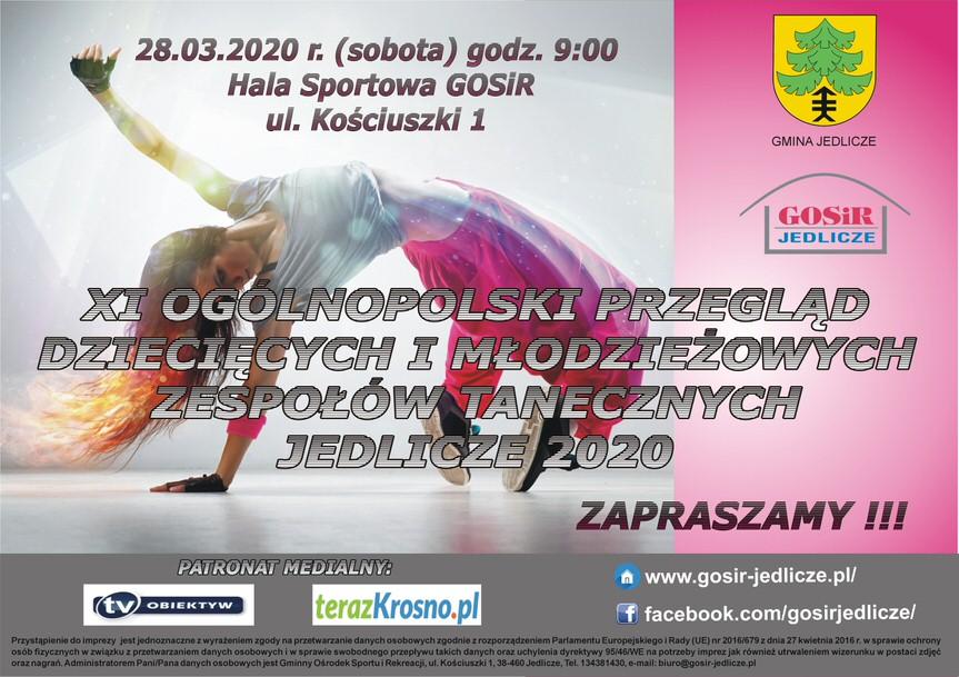 XI Ogólnopolski Przegląd Dziecięcych i Młodzieżowych Zespołów Tanecznych Jedlicze 2020