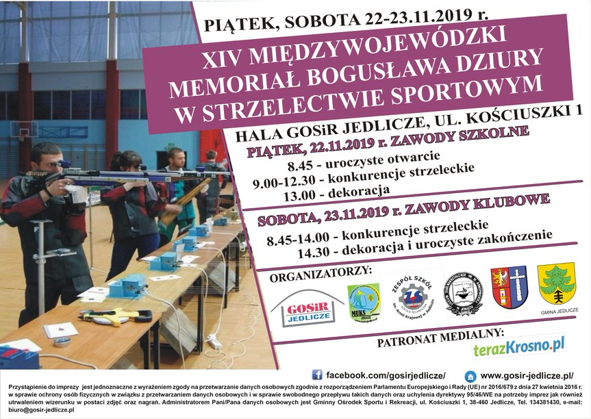 XIV Międzywojewódzki Memoriał Bogusława Dziury w strzelectwie sportowym