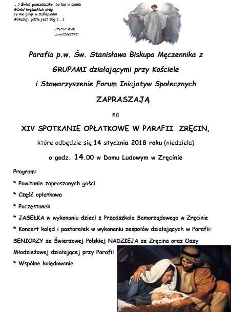 XIV Spotkanie Wigilijne w Parafii Zręcin