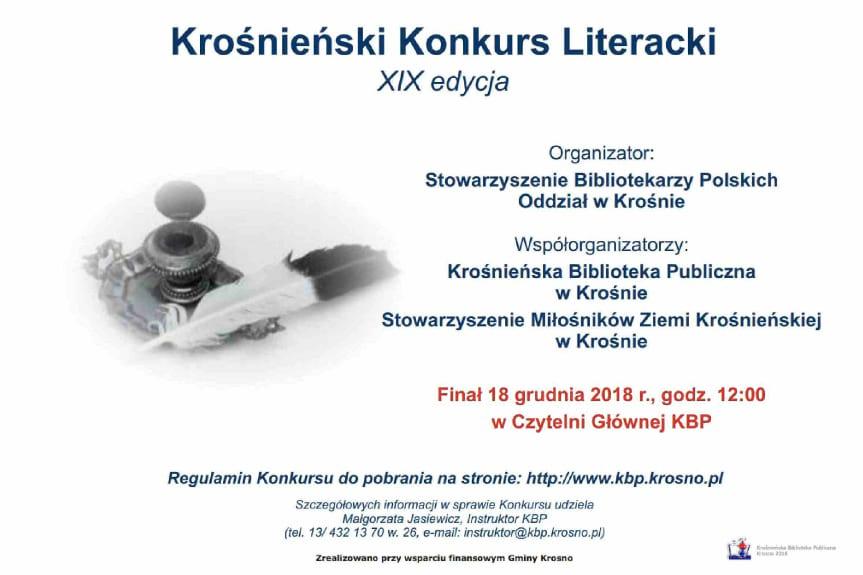 XIX Krośnieński Konkurs Literacki