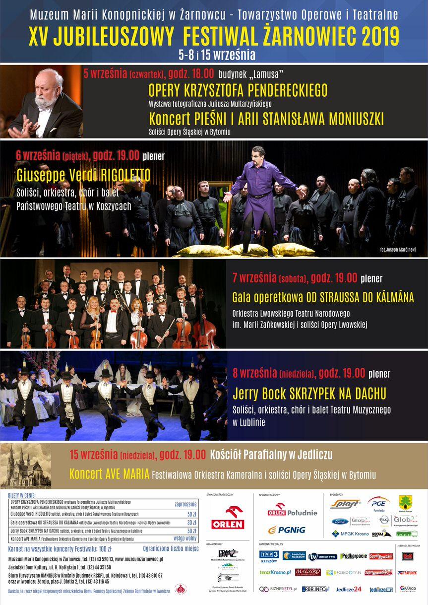 XV Jubileuszowy Festiwal Żarnowiec 2019