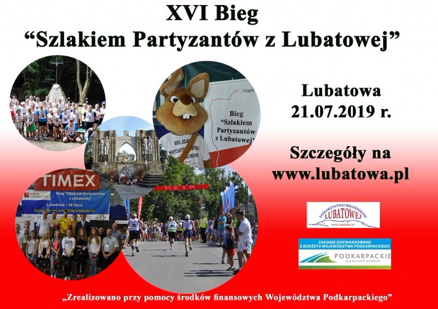 """XVI Bieg """"Szlakiem Partyzantów z Lubatowej"""""""