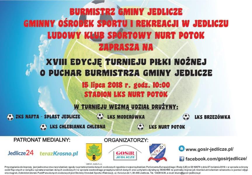 XVIII edycja turnieju piłki nożnej o Puchar Burmistrza Gminy Jedlicze