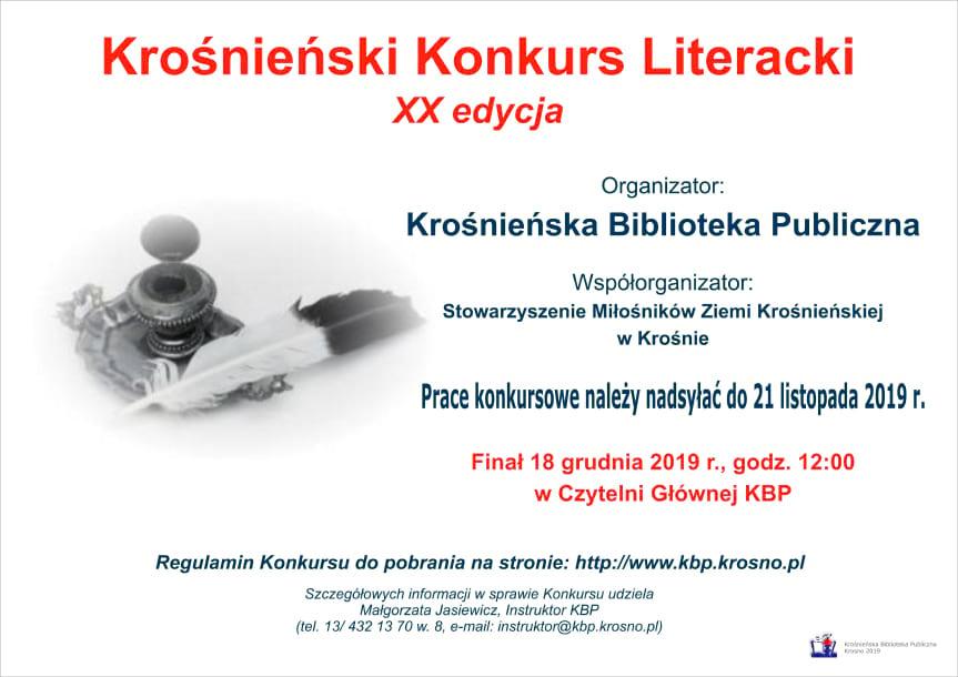 XX Krośnieński KonkursLiteracki.