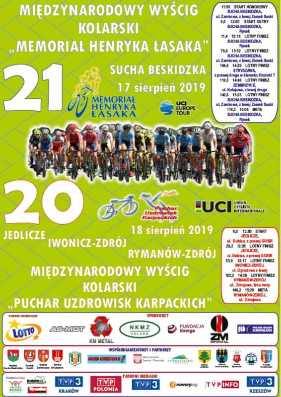 """XX Międzynarodowy Wyścig Kolarski """"Puchar Uzdrowisk Karpackich"""""""