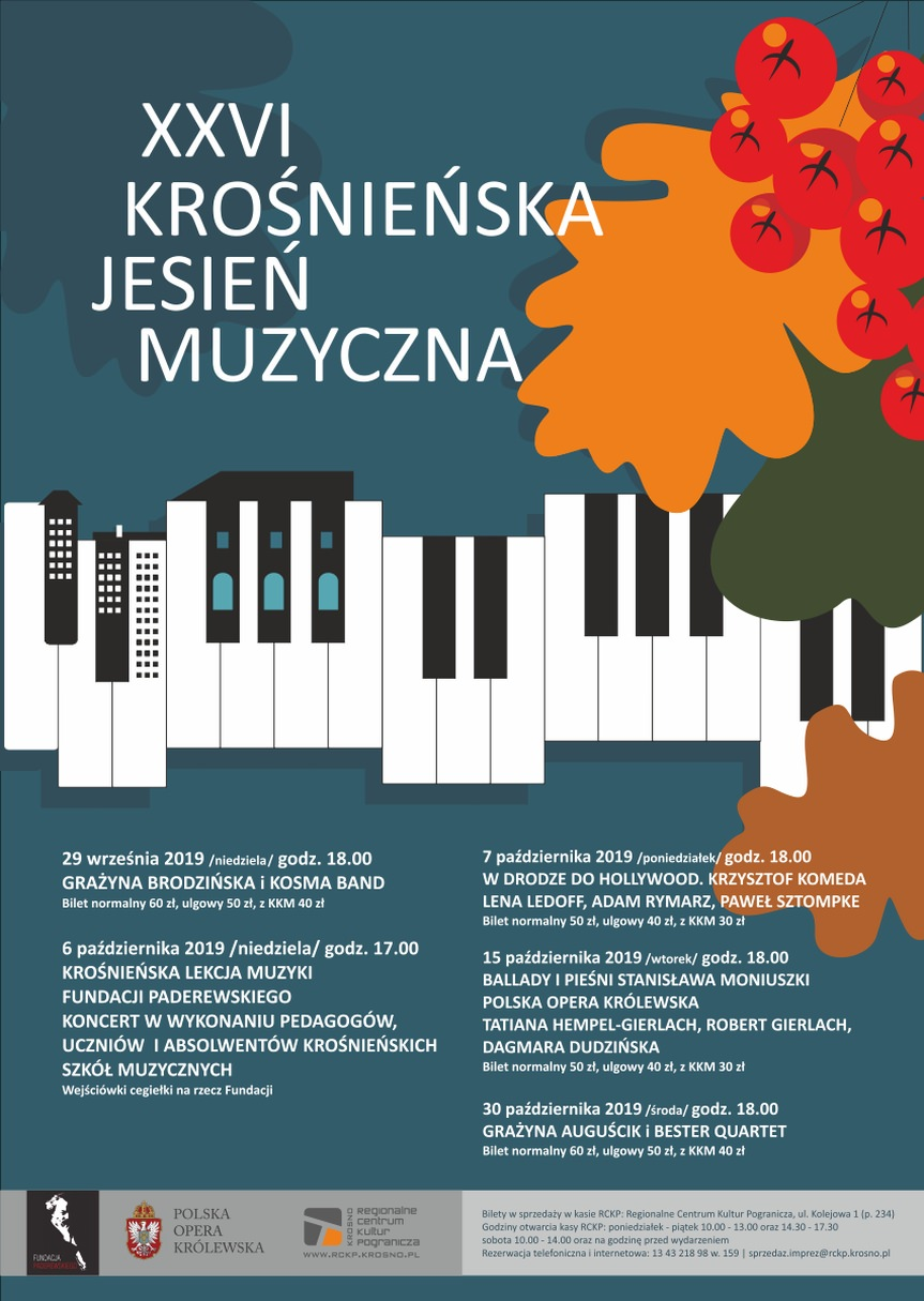 XXVI Krośnieńska Jesień Muzyczna - Grażyna Auguścik i Bester Quartet