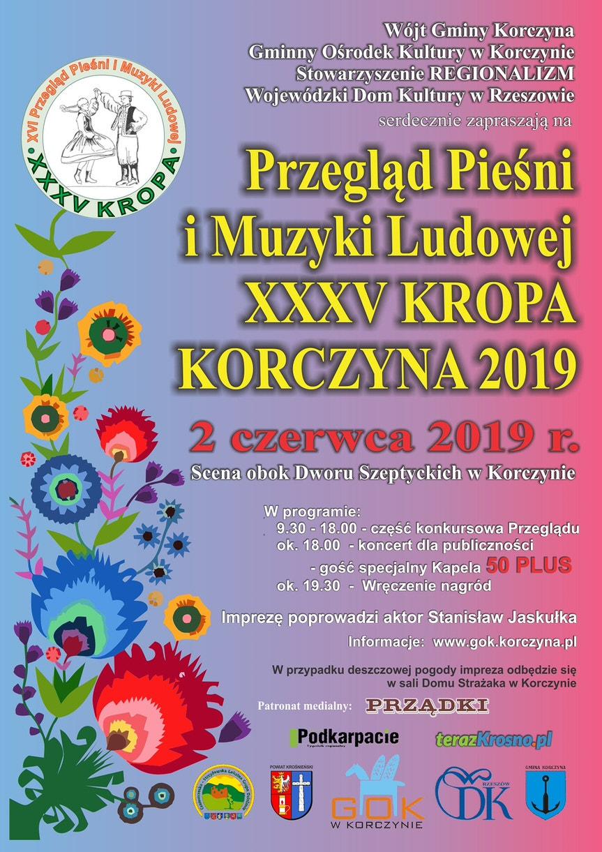 XXXV Przegląd Pieśni i Muzyki Ludowej KROPA w Korczynie