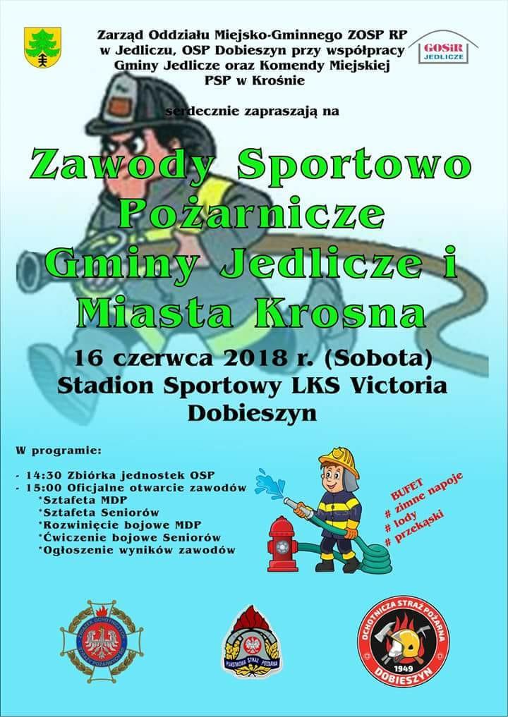 Zawody Sportowo - Pożarnicze Gminy Jedlicze i Miasta Krosna
