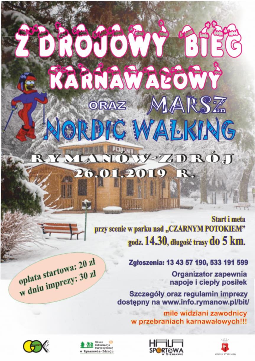 Zdrojowy Bieg Karnawałowy i Marsz Nordic Walking