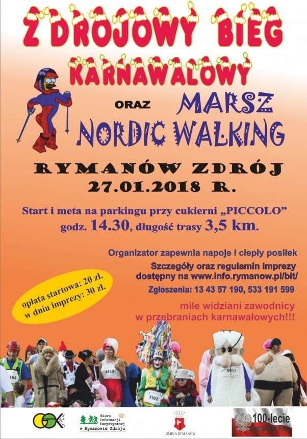 Zdrojowy Bieg Karnawałowy w Rymanowie-Zdroju